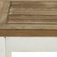 SITZBANK in Weiß 'Nicolo' - Eichefarben/Weiß, MODERN, Holz (140l) - Bessagi Home