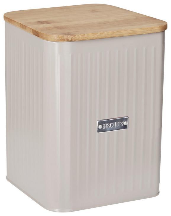 Box mit Deckel Cosima Taupe - Taupe, MODERN, Holz/Metall (18/15,5/23cm) - Zandiara