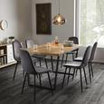 Stuhl Ida - Dunkelgrau/Schwarz, MODERN, Holz/Textil (44/89/41,5cm) - Bessagi Home