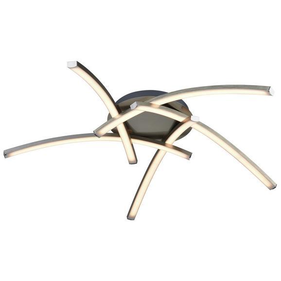 LED-Deckenleuchte Helger max. 24 Watt - Silberfarben/Weiß, ROMANTIK / LANDHAUS, Kunststoff/Metall (67cm) - Premium Living