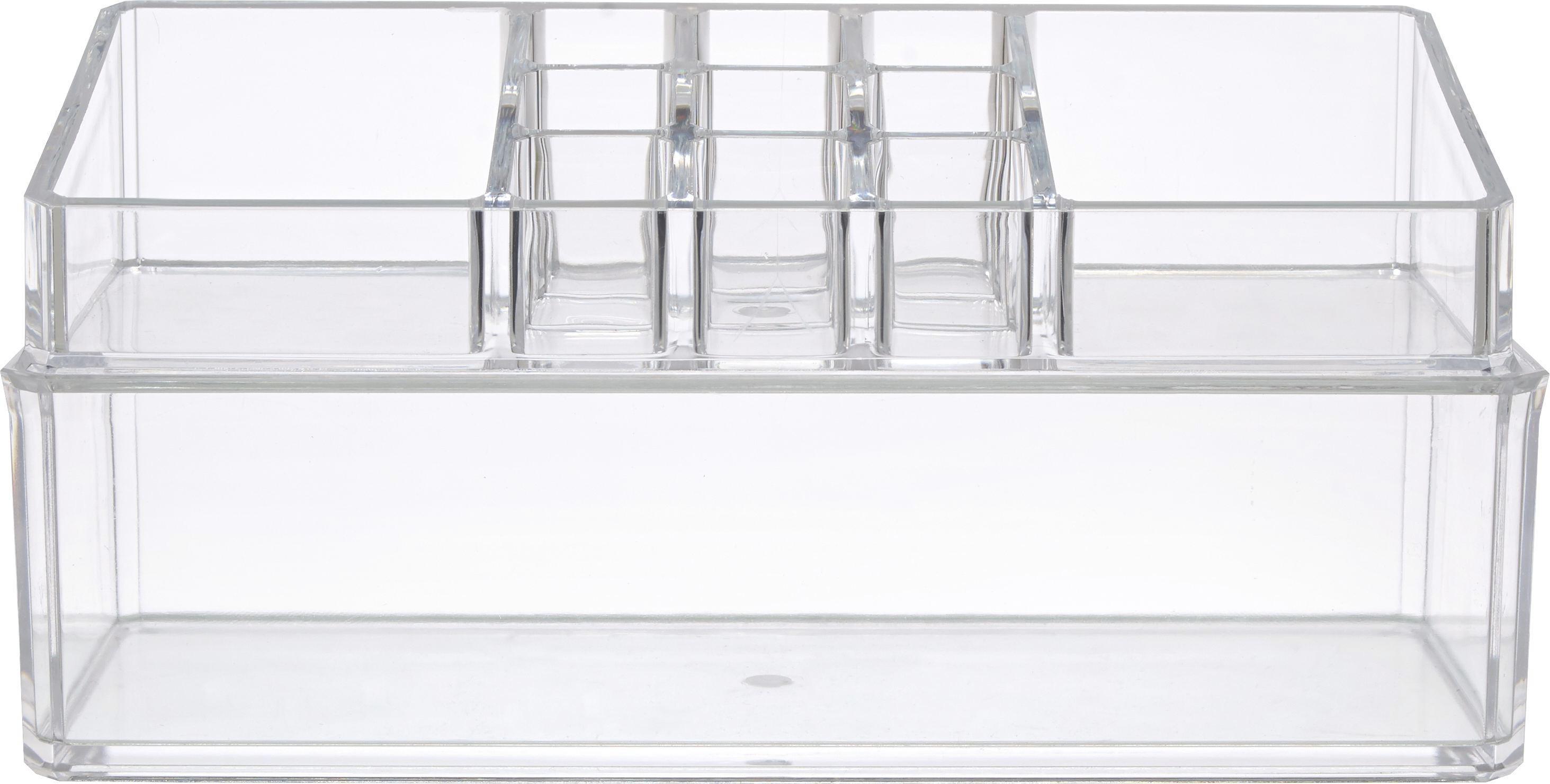 Kozmetikai Rendszerező Sina - áttetsző, műanyag (23/11/9cm) - MÖMAX modern living
