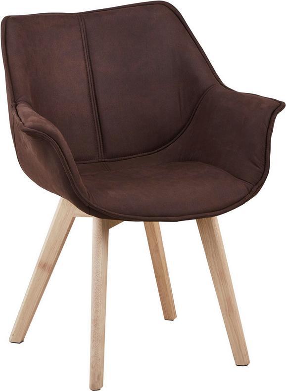 Stuhl in Braun/naturfarben - Braun/Naturfarben, LIFESTYLE, Holz/Textil (64/81/78cm) - ZANDIARA