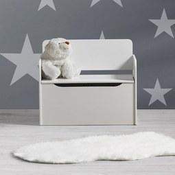 Kindersitzbank Star inkl. Stauraum - Weiß, MODERN, Holz (60/50/30cm) - Bessagi Kids