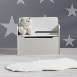 Kindersitzbank Star inkl. Stauraum - Weiß, MODERN, Holzwerkstoff (60/50/30cm) - Mömax modern living
