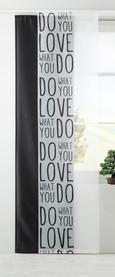 Lapfüggöny Love - Fehér/Fekete, modern, Textil (60/245cm) - Mömax modern living