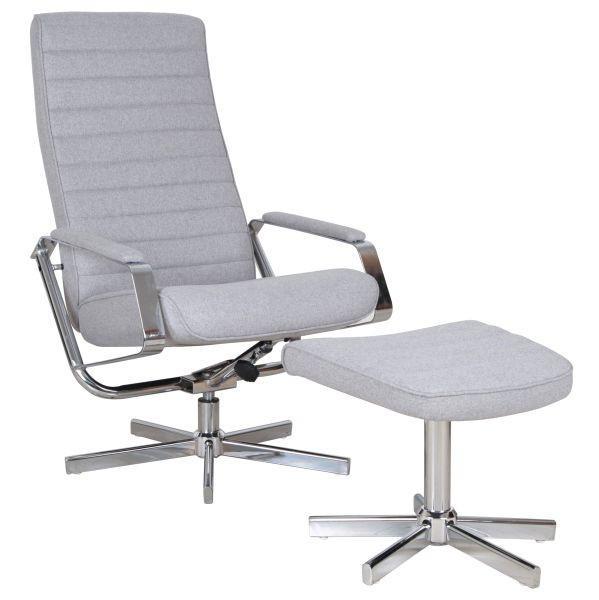 Relaxsessel in Grau - Chromfarben/Grau, MODERN, Kunststoff/Textil (65/97-107/71-101cm) - PREMIUM LIVING