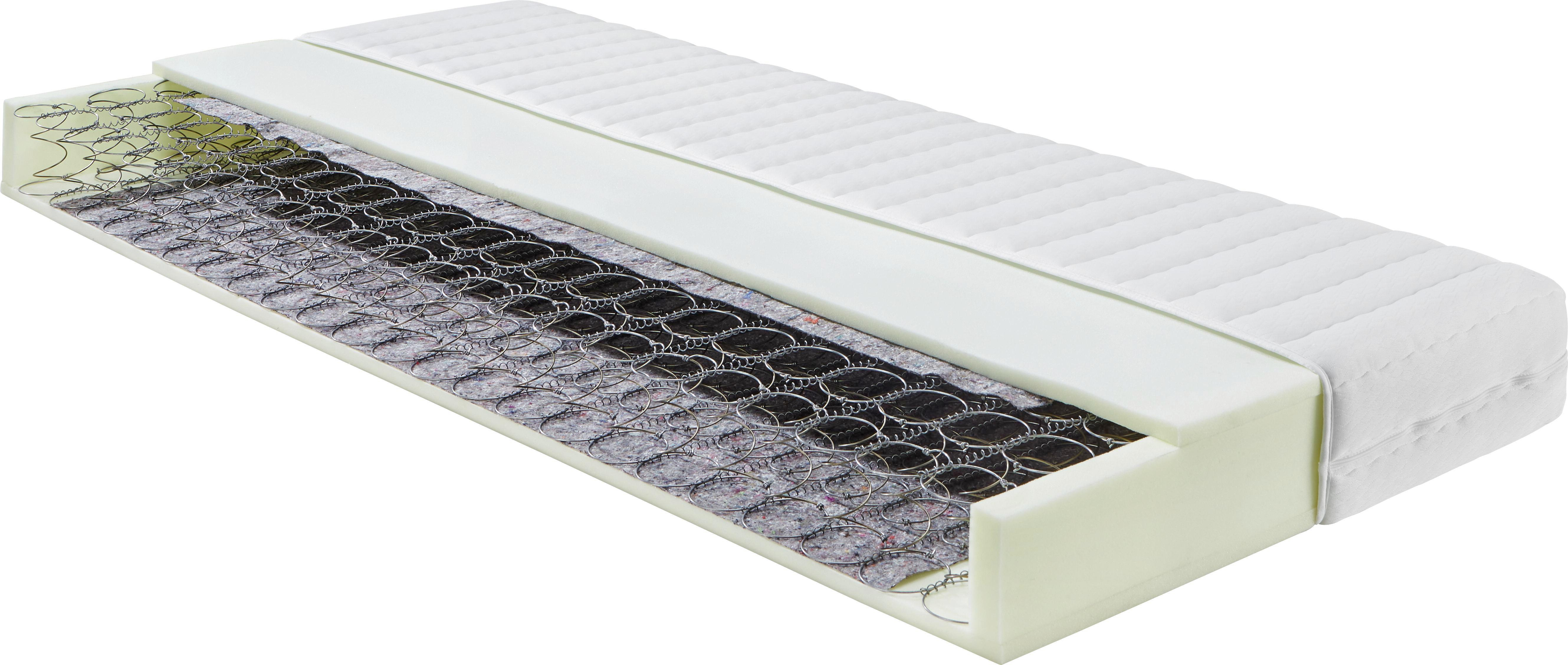 Federkernmatratze Bonellfederkern ca. 120x200cm - Weiß, KONVENTIONELL, Textil (200/120/16cm) - NADANA
