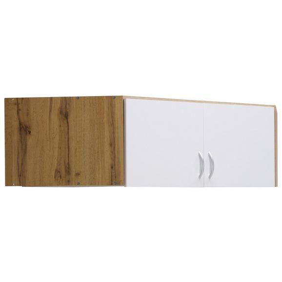 Aufsatzschrank in Eichefarben - Eichefarben/Alufarben, MODERN, Holzwerkstoff/Kunststoff (120/39/54cm) - Modern Living