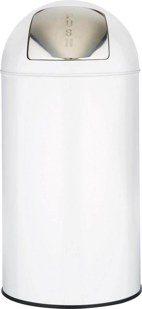 abfalleimer Push Can L in Weiß/Edelstahl - Edelstahlfarben/Zinkfarben, Metall (35/76cm) - MÖMAX modern living
