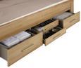 Bett Eichefarben/Weiß 185x208cm - Eichefarben, KONVENTIONELL, Holzwerkstoff/Textil (208/185/104cm) - Modern Living