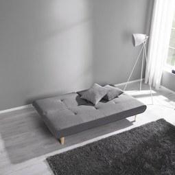 sofa katja mit schlaffunktion grau modern holz textil 183 85