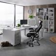 Chefsessel Schwarz/Grau - Hellgrau/Schwarz, MODERN, Kunststoff/Textil (72/117,5-125/70cm) - Premium Living