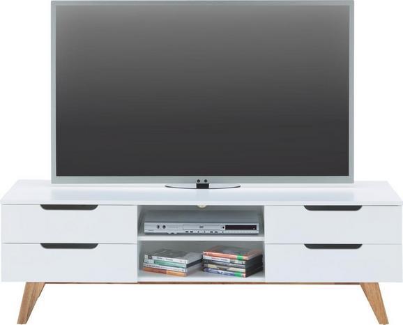 Phonotisch Weiß Holz - Naturfarben/Weiß, MODERN, Holz/Holzwerkstoff (150/47,5/45cm) - Mömax modern living