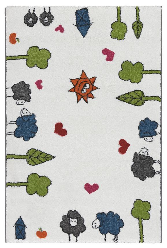 Kinderteppich Rudi in Weiß, ca. 80x120cm - Weiß, Textil (80/120cm) - MÖMAX modern living