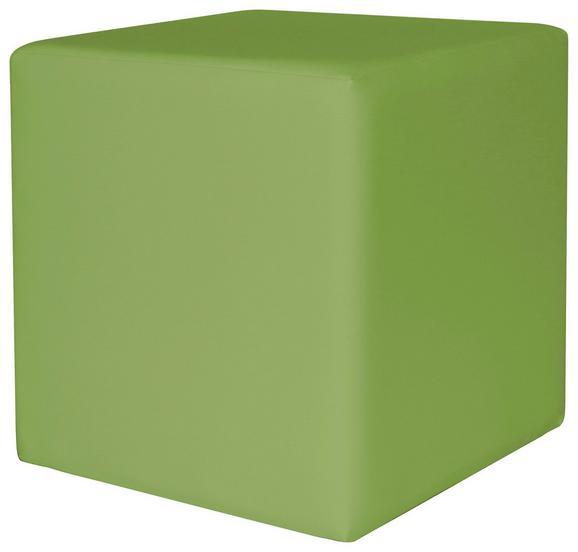 Tabure Colorfull Cube - zelena/bež, Moderno, umetna masa/tekstil (40/40/42cm) - Mömax modern living