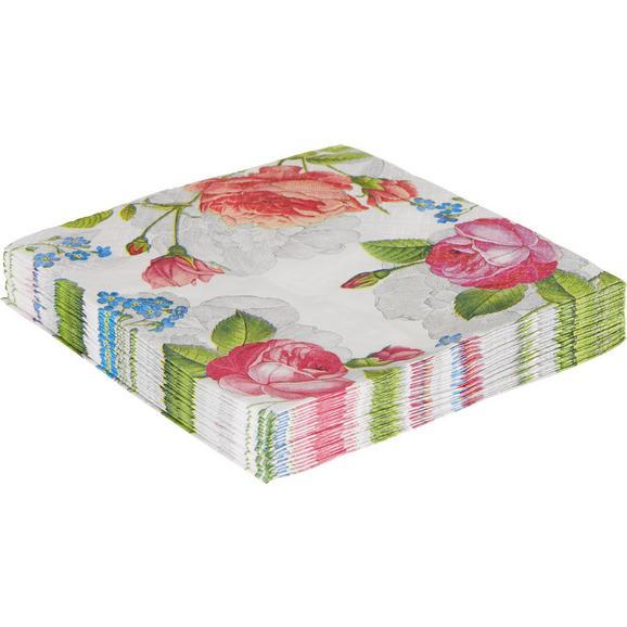 Serviette Helena Multicolor - Multicolor/Weiß, Papier (33/33cm)