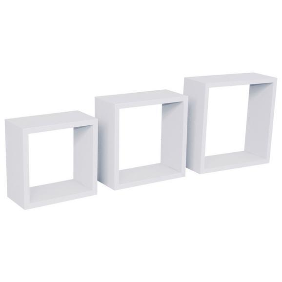 Raft De Perete Simple 3 - alb, Modern, plastic (30-27-24/30-27-24/12cm)