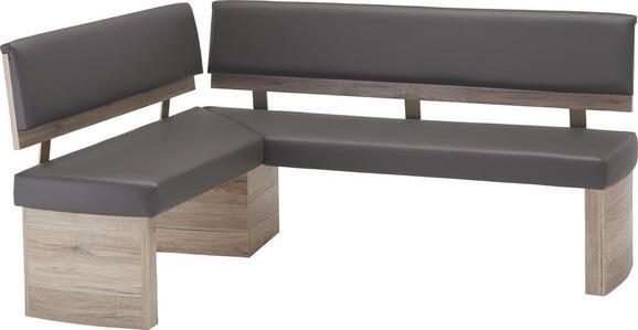Eckbank Anthrazit/Eichefarben - Eichefarben/Anthrazit, MODERN, Holzwerkstoff/Textil (140/89,9/180cm) - Mömax modern living