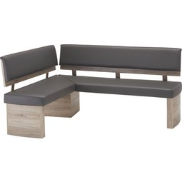 Eckbank In Anthrazit/Eichefarben   Eichefarben/Anthrazit, MODERN,  Holzwerkstoff/Textil (