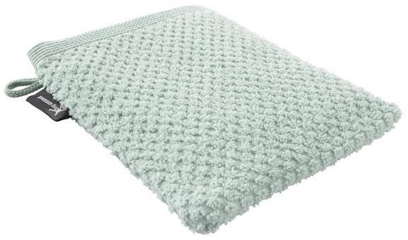 Waschhandschuh Juliane Hellgrün - Hellgrün, Textil (16/21cm) - Premium Living