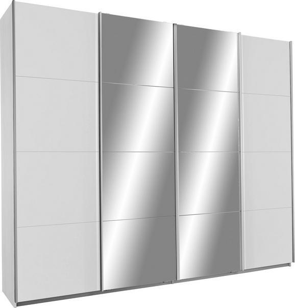 Schwebetürenschrank Weiß/Spiegel - Weiß, KONVENTIONELL, Holzwerkstoff (271/230/62cm) - Modern Living