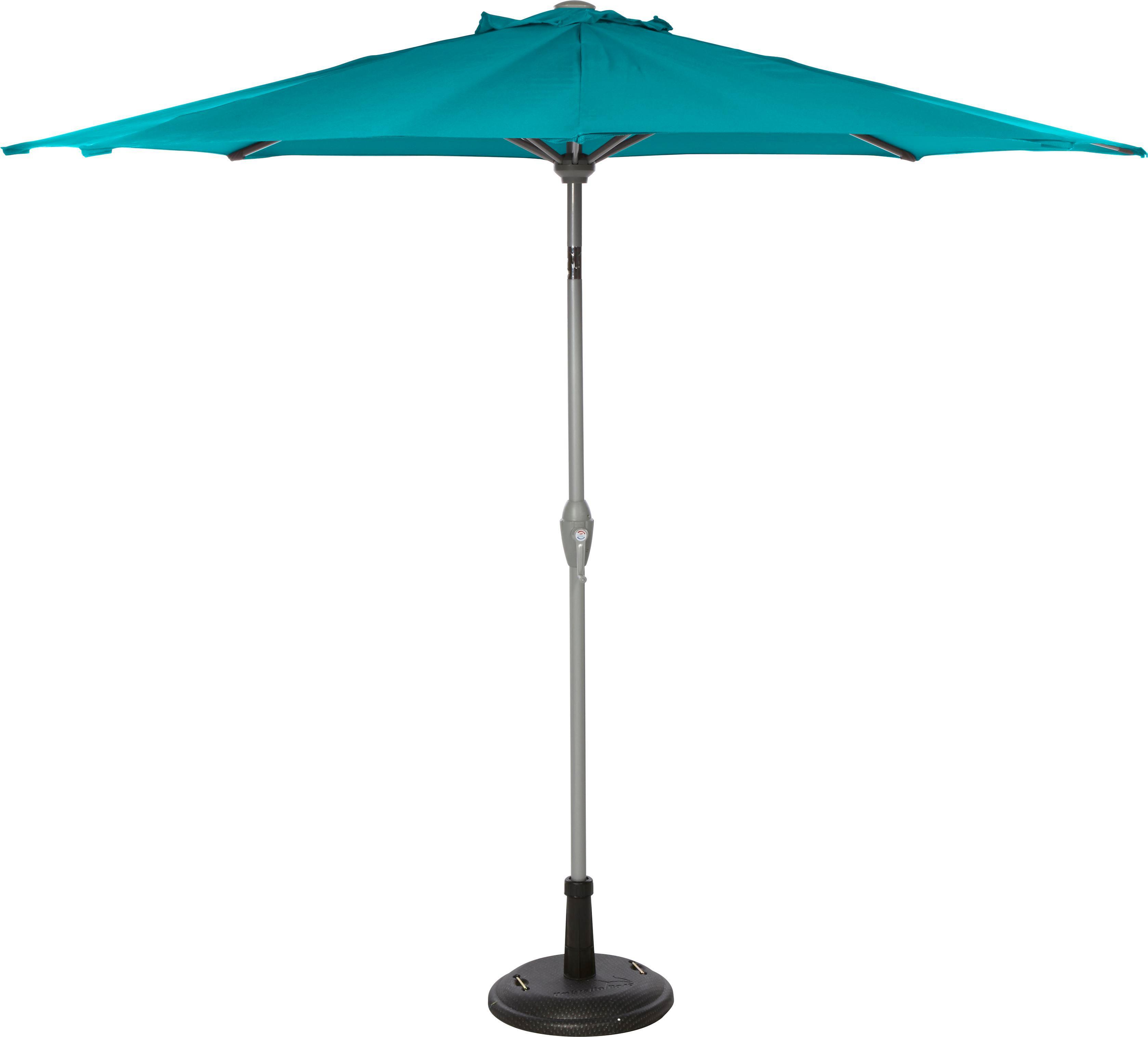 Sonnenschirm Akane in Blau - Blau/Alufarben, Kunststoff/Metall (270/238cm) - MÖMAX modern living