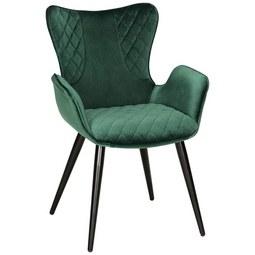 Stuhl in Grün/Schwarz - Schwarz/Grün, MODERN, Textil/Metall (63/88/61cm) - Modern Living