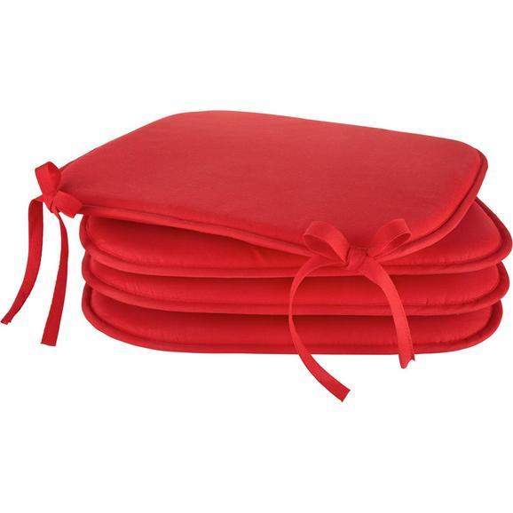 Sedežna Blazina Klaus - modra/rumena, tekstil (38/38/2cm) - Mömax modern living