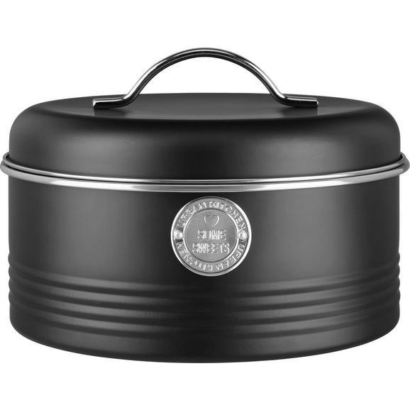 Cutie Alimentară Urban - argintiu/negru, Modern, metal (22,5/16cm) - Mömax modern living