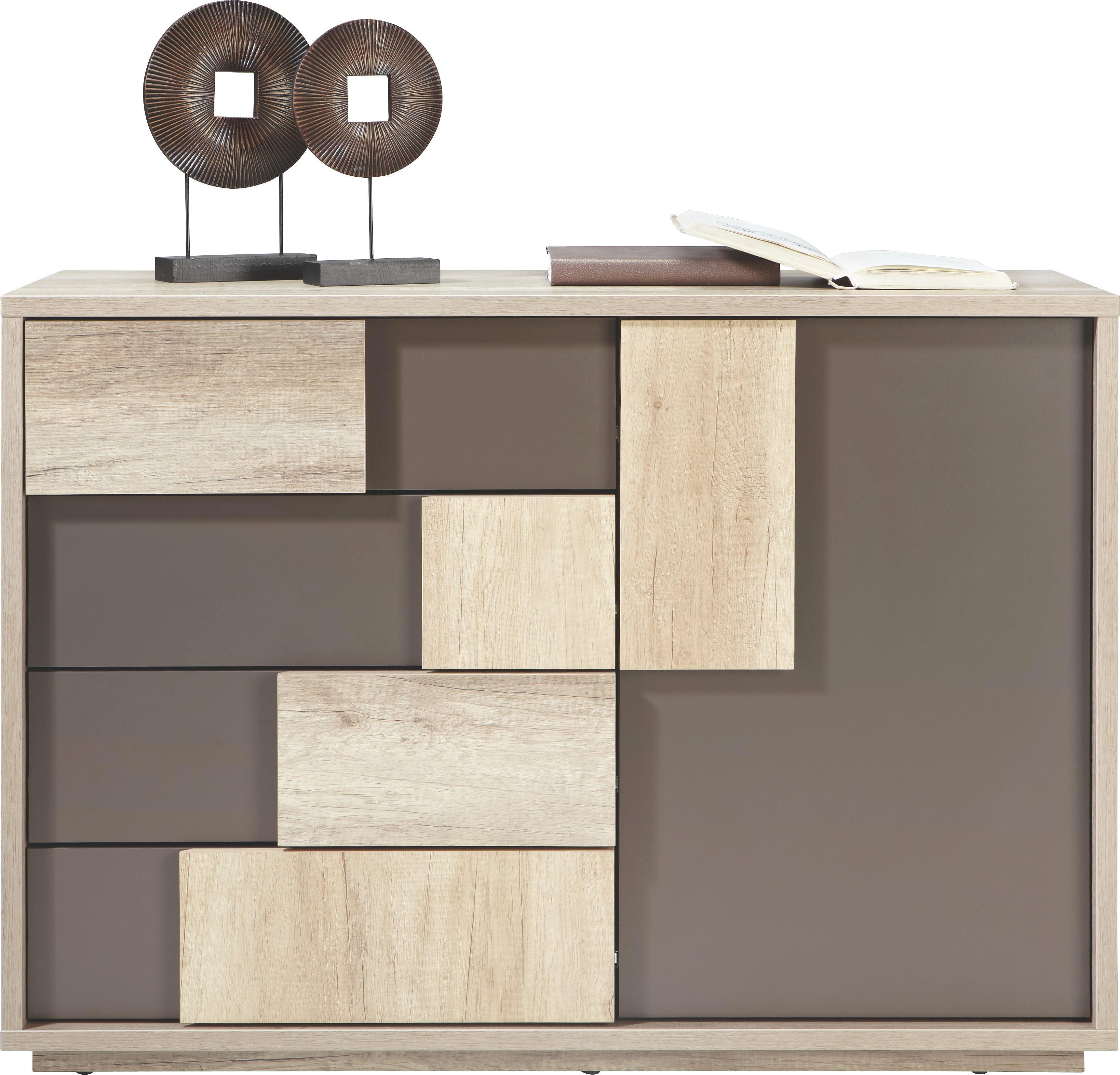 Kommode in Braun/Canyon Grey - Braun/Grau, MODERN, Holz (115/82/45cm) - MÖMAX modern living