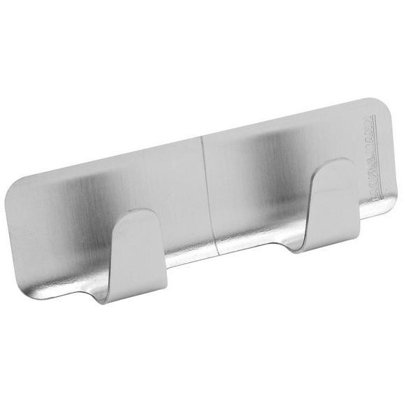 Klebehaken Edelstahlfarben - Edelstahlfarben, Metall (8/3/2cm)