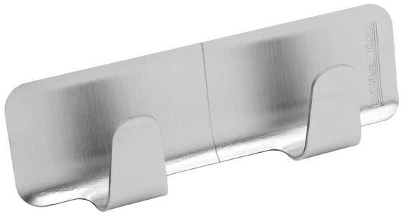 Klebehaken in Edelstahlfarben - Edelstahlfarben, Metall (8/3/2cm)