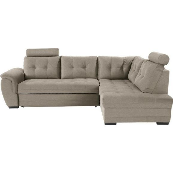 Sedežna Garnitura Falco - svetlo rjava/temno siva, Konvencionalno, kovina/umetna masa (251/183cm) - Mömax modern living