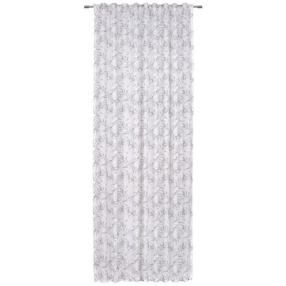 Fertigvorhang Athena in Weiß - Weiß, Textil (140/245cm) - Mömax modern living