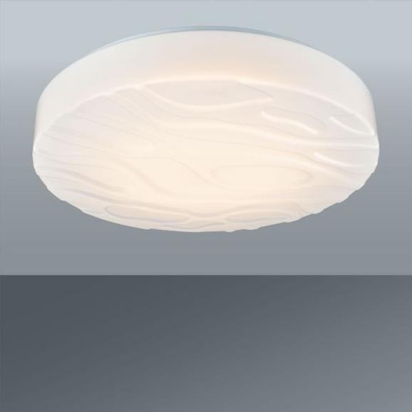 LED-Deckenleuchte Ernie, max. 1x18 Watt - Weiß, KONVENTIONELL, Kunststoff/Metall (35/9/cm) - Mömax modern living