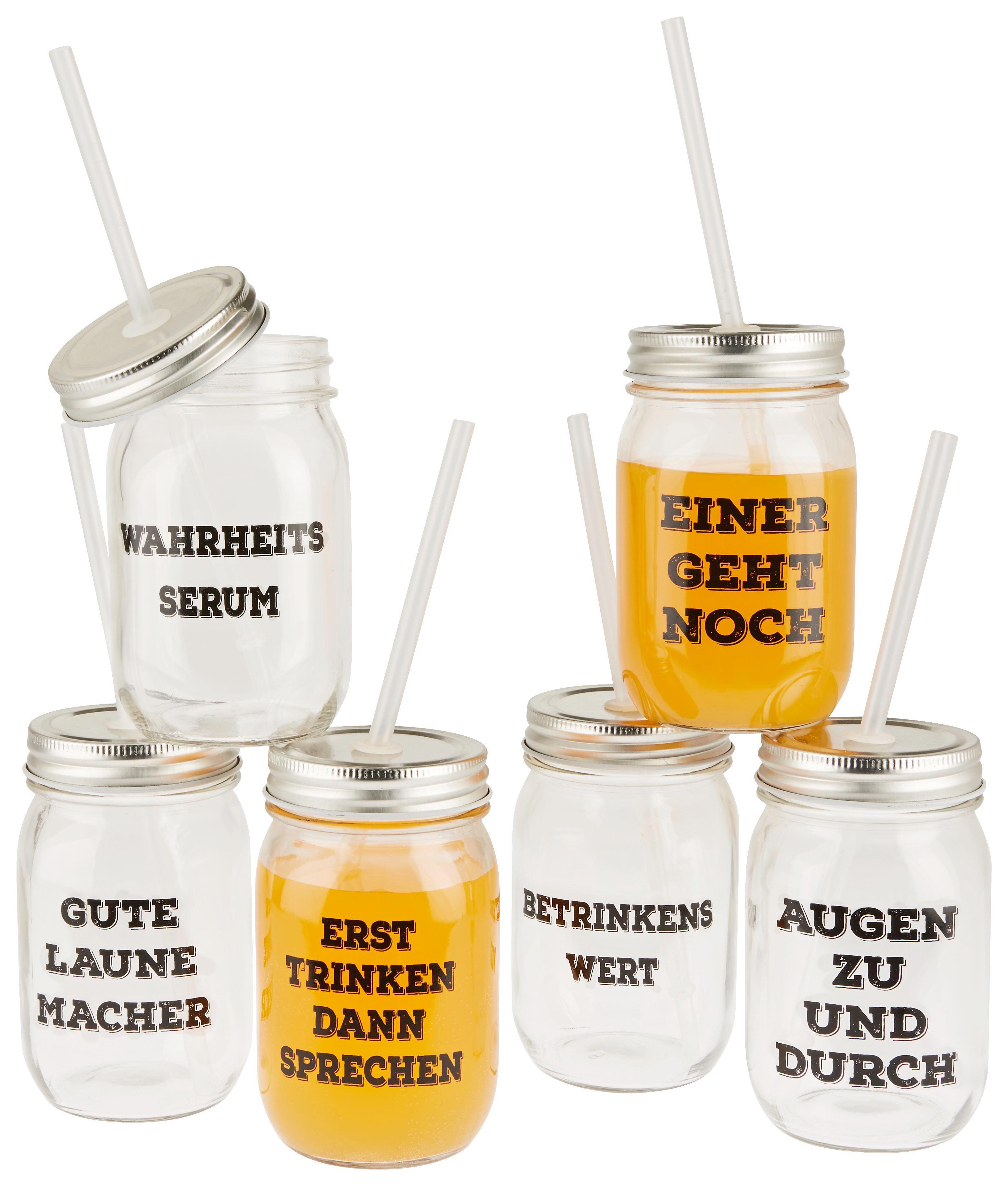 Trinkglas BBQ in verschiedenen Motiven - Transparent, LIFESTYLE, Glas (8/13cm)