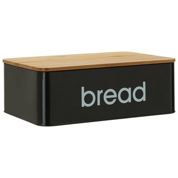 Brotbox Norman In Schwarz Lifestyle Holz Metall 33 21