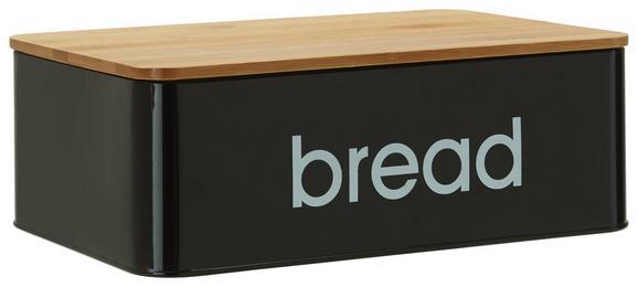 Škatla Za Kruh Norman - črna, Trendi, kovina/les (33/21/10,5cm) - Mömax modern living