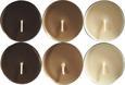 Teelicht Momo verschiedene Farben - Alufarben/Braun, Metall (5,9/2,4cm) - Mömax modern living