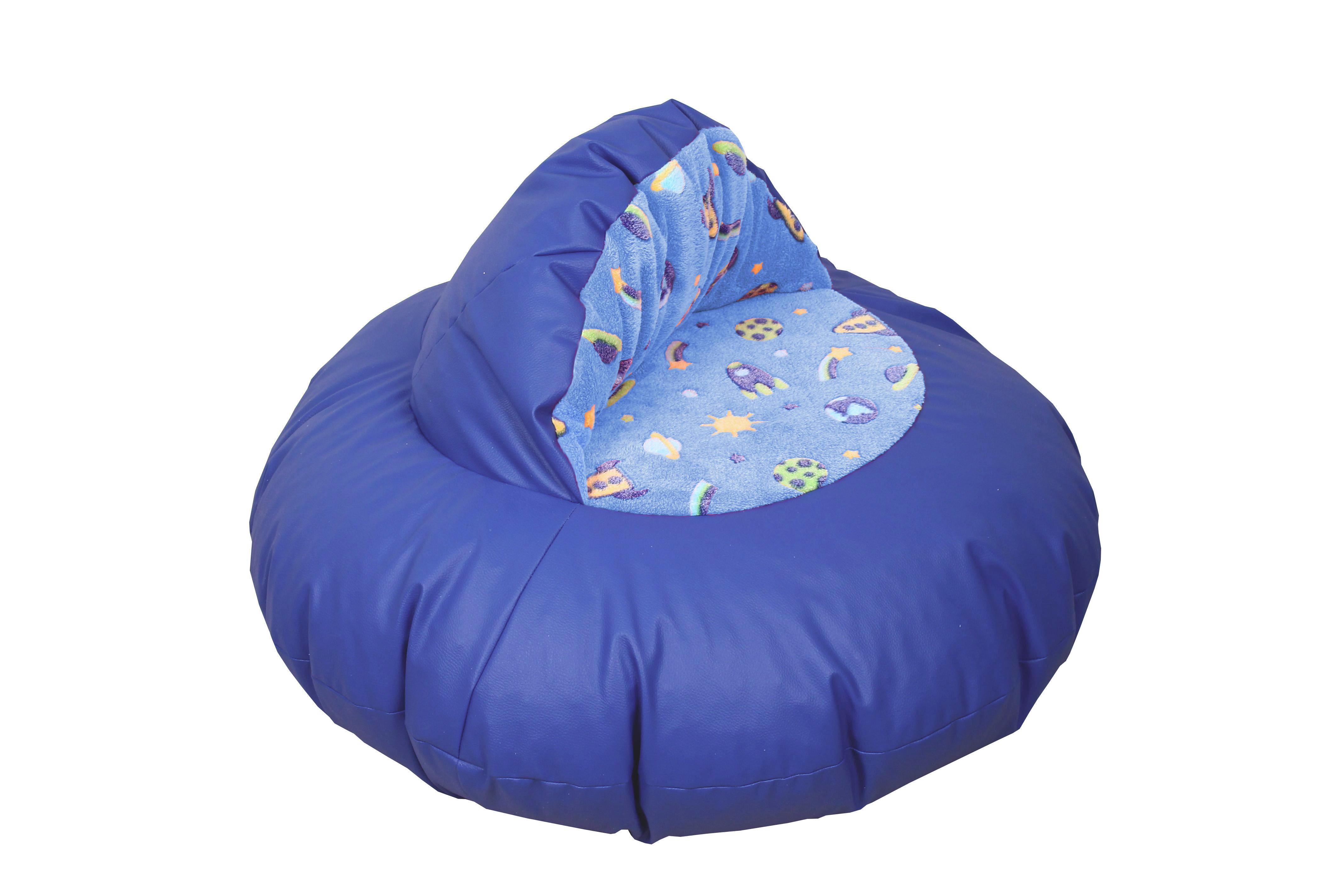 Sitzsack in Blau - Blau, Textil (100/60/100cm) - MODERN LIVING