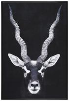 Slika Denise - črna/bela, papir/les (62/92/4,3cm) - Modern Living