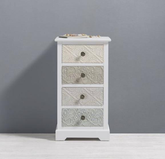 Kommode Avery - Beige/Weiß, MODERN, Holz/Metall (42/76/32cm) - Premium Living