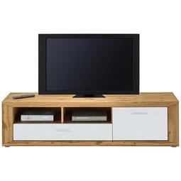 TV-Element in Eichefarben - Eichefarben/Silberfarben, KONVENTIONELL, Holzwerkstoff/Kunststoff (160/42,5/45cm) - Modern Living