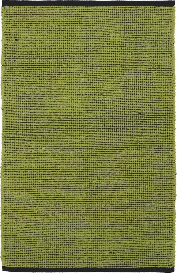 Fleckerlteppich Sofia - Schwarz/Hellgrün, Textil (60/90cm) - Mömax modern living