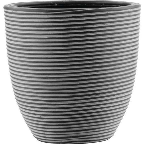Vas Ornamental Pentru Ghiveci Marlene - negru, Lifestyle, plastic (21/21cm) - Modern Living