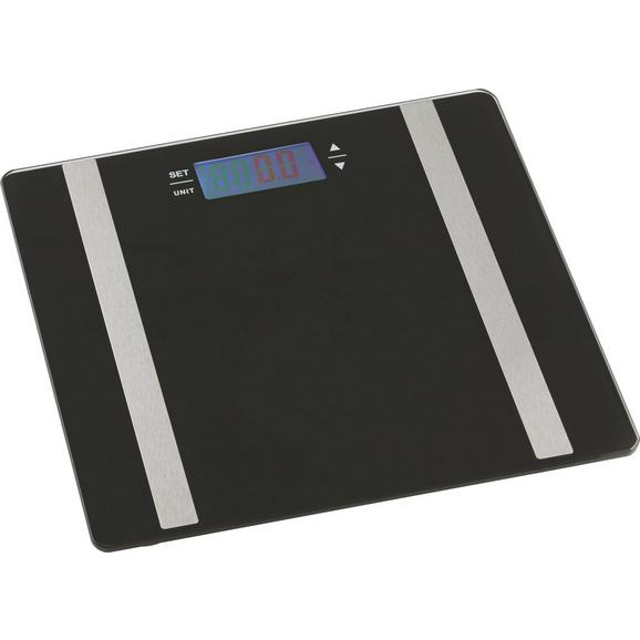 Osebna Tehtnica Sarah - črna, steklo (30/30/1,7cm) - Mömax modern living