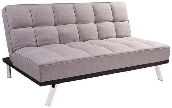Zofa S Posteljno Funkcijo Roma - siva/nerjaveče jeklo, Moderno, kovina/tekstil (179/84/96cm) - Mömax modern living