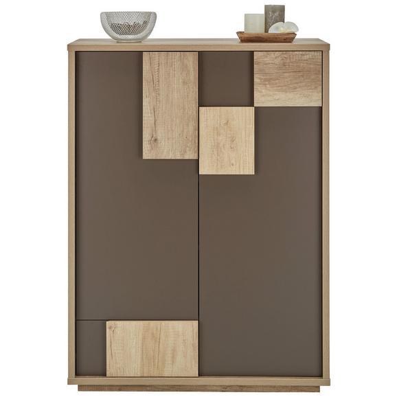 Omara Za Čevlje Vobis - hrast/rjava, Moderno, leseni material (85,6/115/42cm) - Mömax modern living
