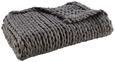 Decke Berita ca.130x170cm in Dunkelgrau - Dunkelgrau, Textil (130/170cm) - Mömax modern living