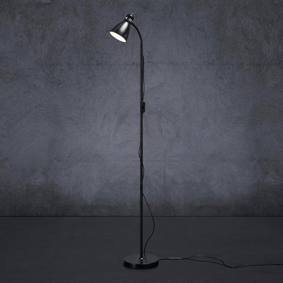 Stehleuchte Mauro - Schwarz, MODERN, Metall (19/145cm) - Modern Living